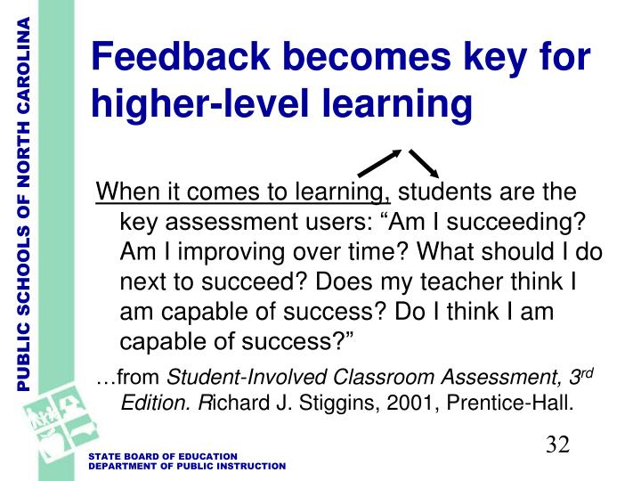 Feedback becomes key for higher-level learning