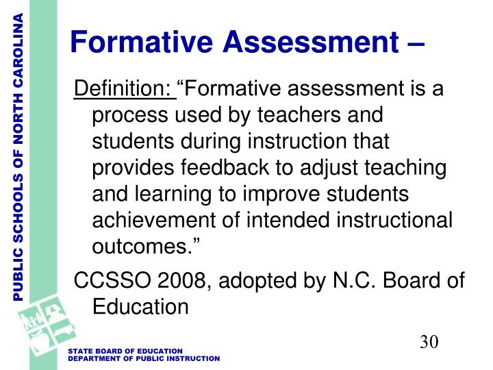 Formative Assessment –