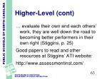 higher level cont