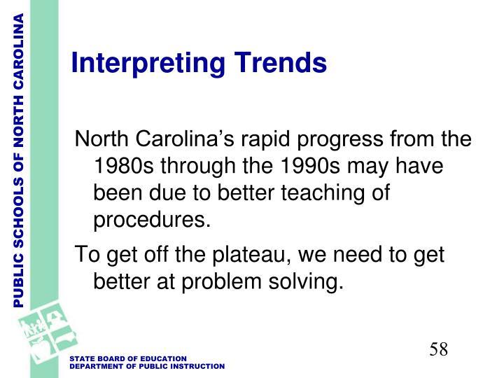 Interpreting Trends