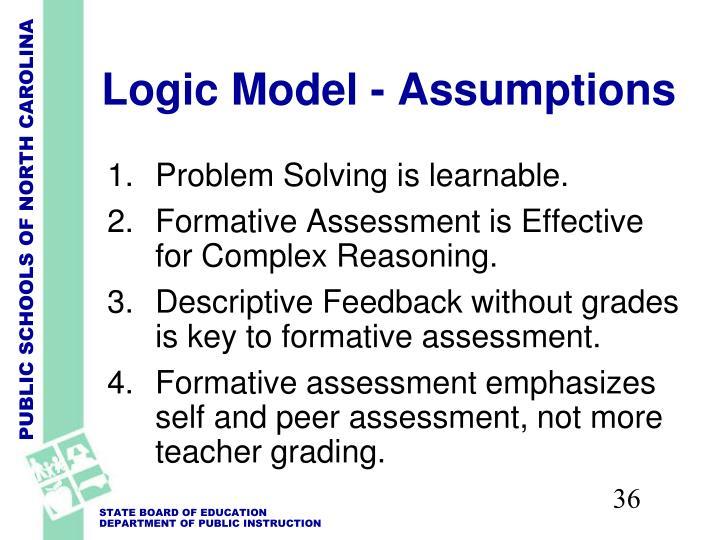 Logic Model - Assumptions