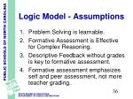 logic model assumptions