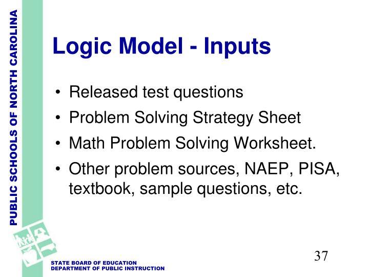 Logic Model - Inputs