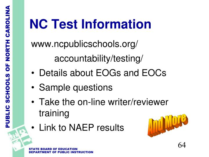 NC Test Information