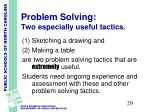 problem solving two especially useful tactics