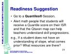 readiness suggestion2