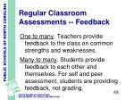 regular classroom assessments feedback