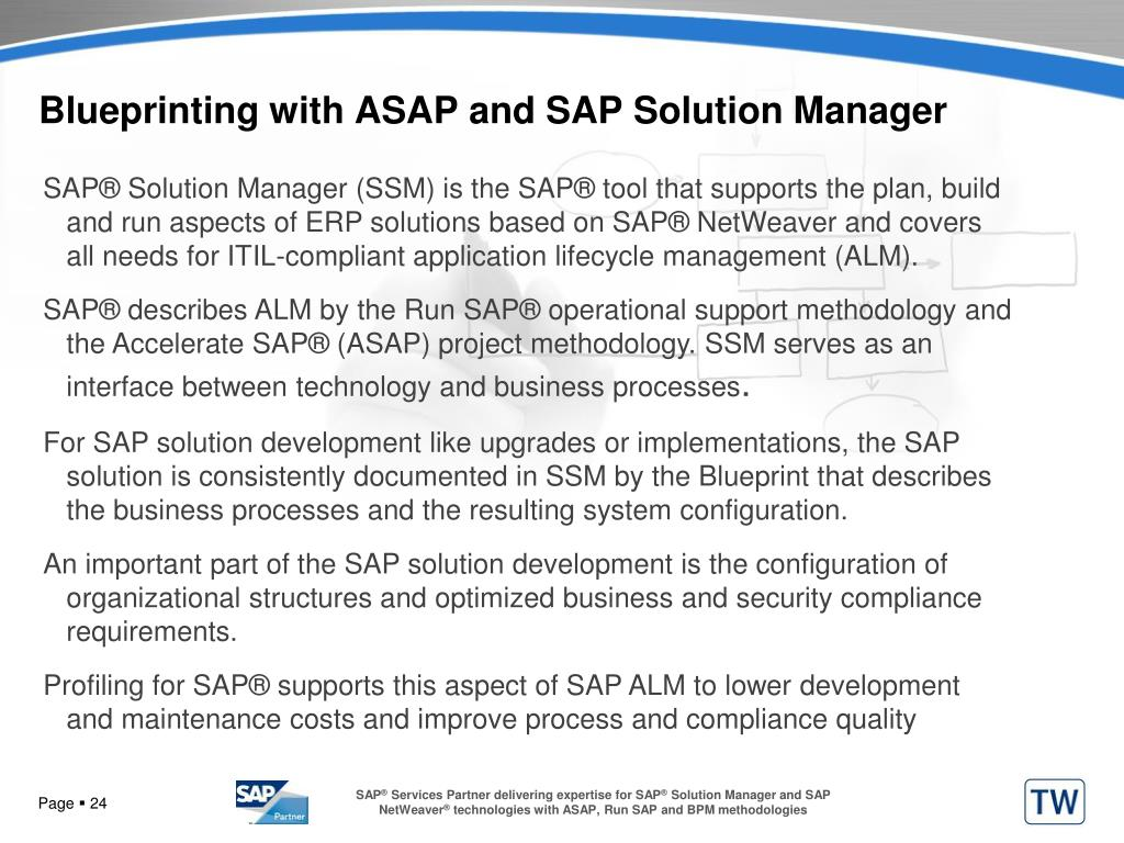 Blueprinting with ASAP and SAP Solution Manager