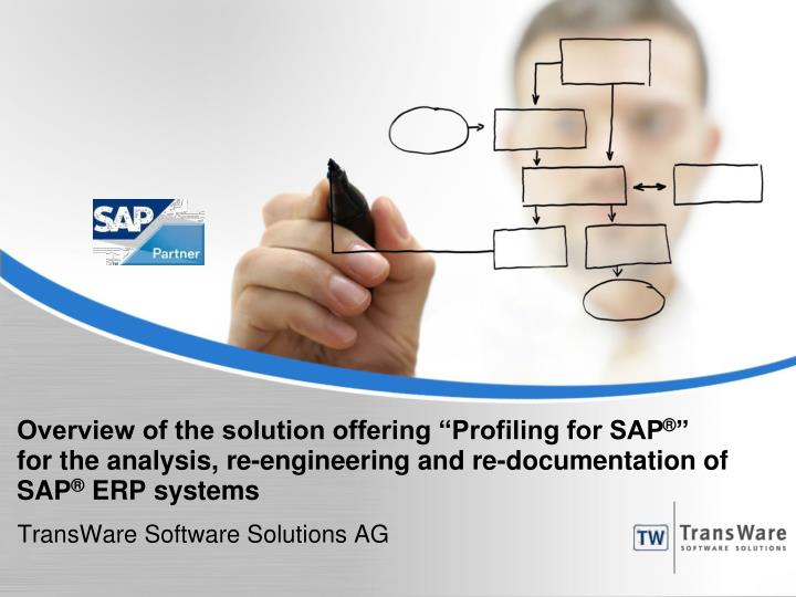 "Overview of the solution offering ""Profiling for SAP"