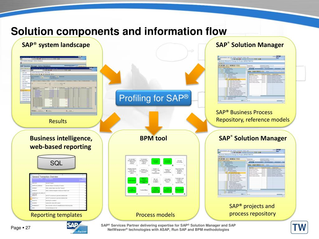 Solution components and information flow