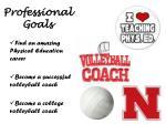 professional goals