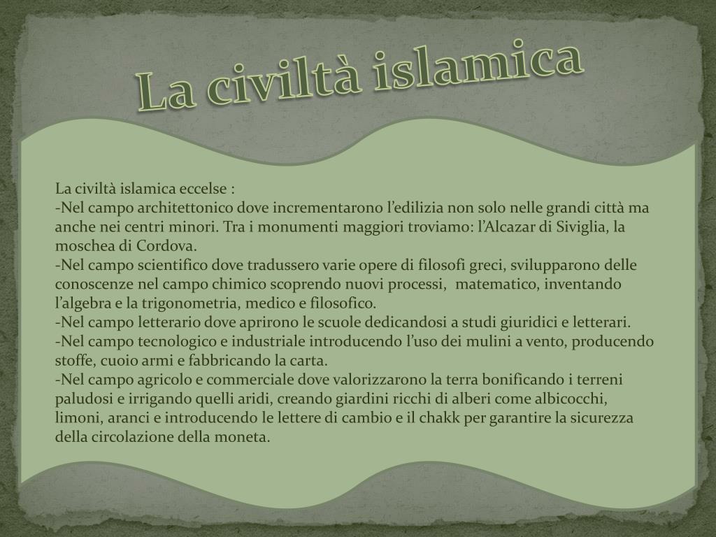 La civiltà islamica