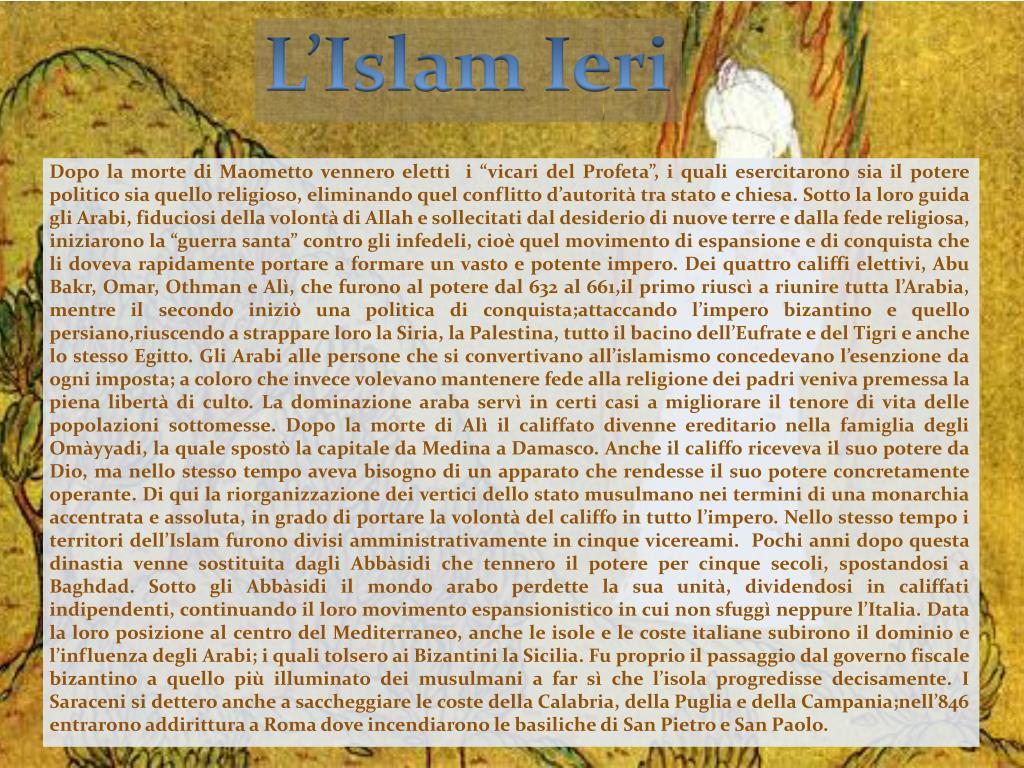 L'Islam Ieri