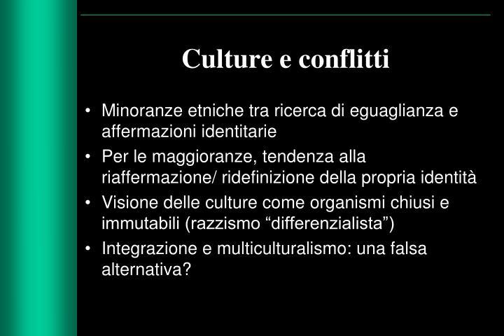 Culture e conflitti