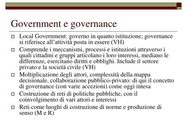 Government e governance