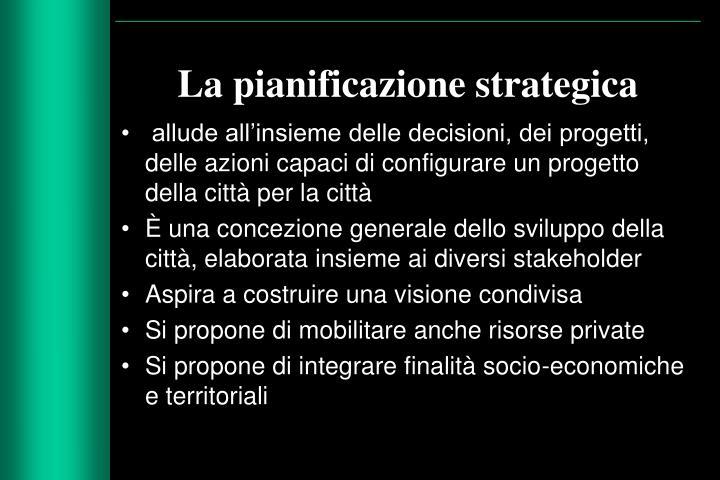 La pianificazione strategica