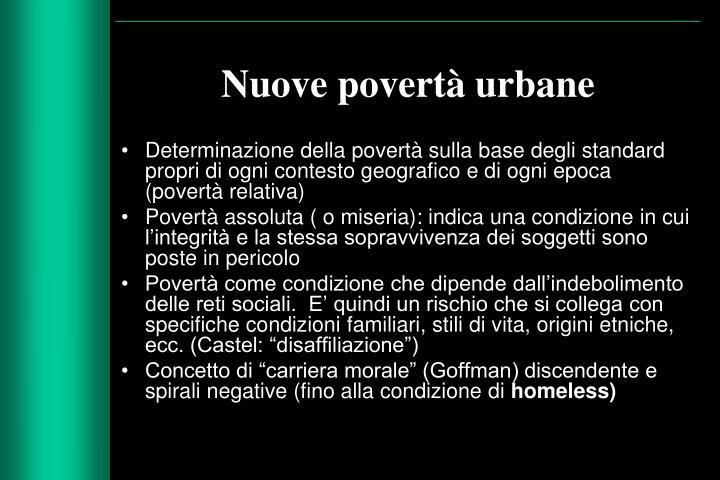 Nuove povertà urbane