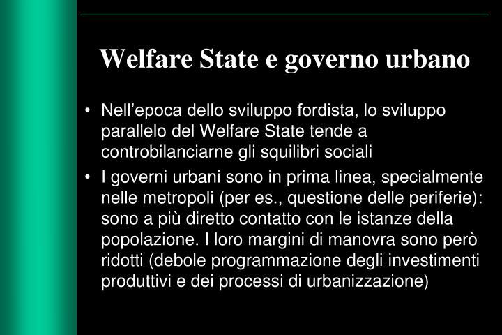 Welfare State e governo urbano