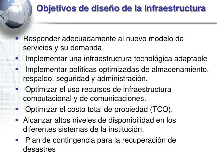 Objetivos de diseño de la infraestructura