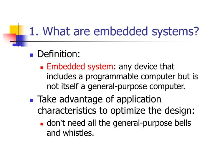 1 what are embedded systems