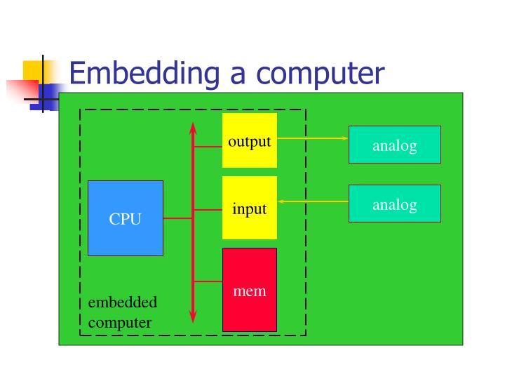 Embedding a computer