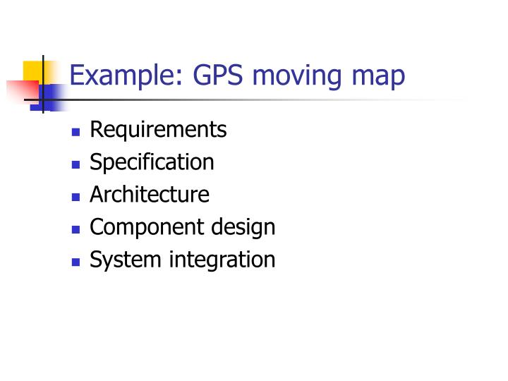 Example: GPS moving map