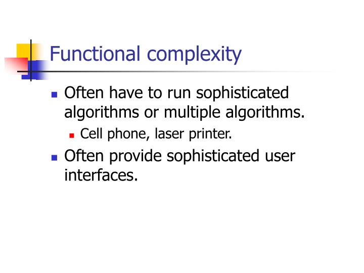 Functional complexity