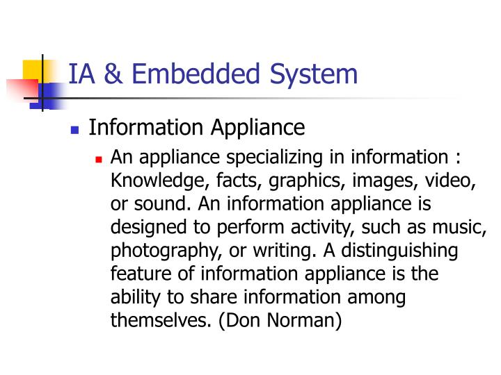 IA & Embedded System
