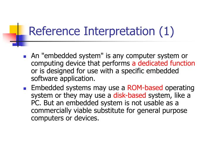 Reference Interpretation (1)