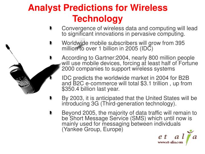 Analyst predictions for wireless technology