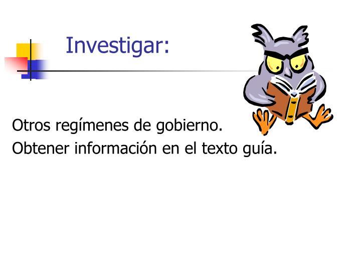 Investigar: