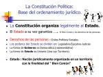 la constituci n pol tica base del ordenamiento jur dico