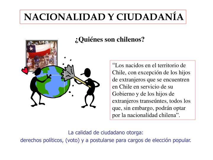 NACIONALIDAD Y CIUDADANÍA