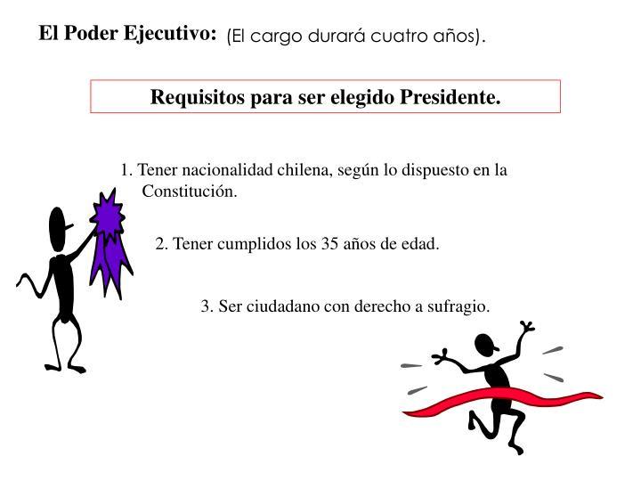 El Poder Ejecutivo: