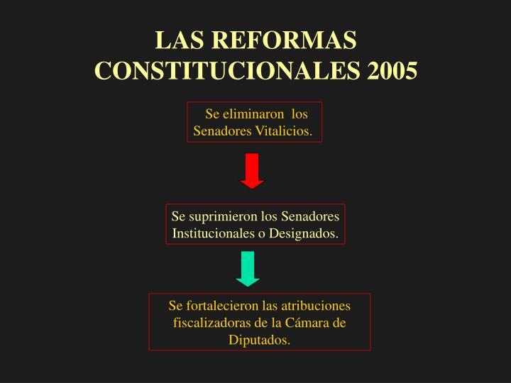 LAS REFORMAS CONSTITUCIONALES 2005