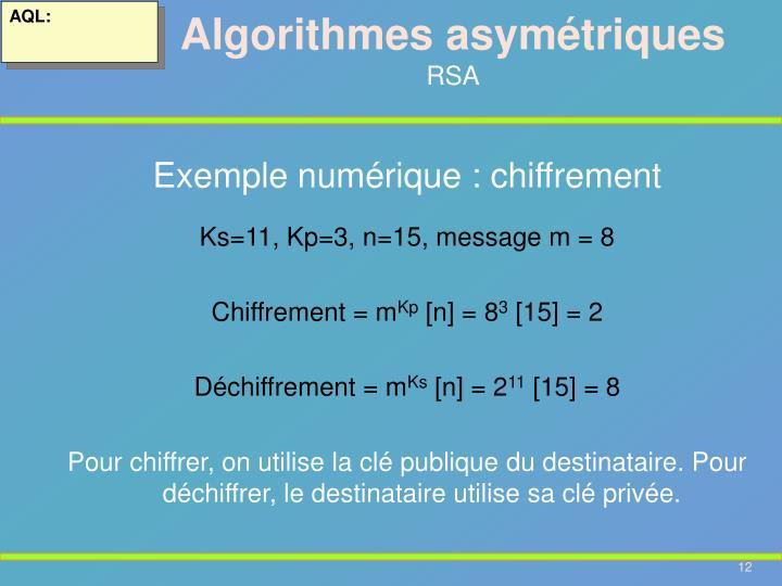 Algorithmes asymétriques