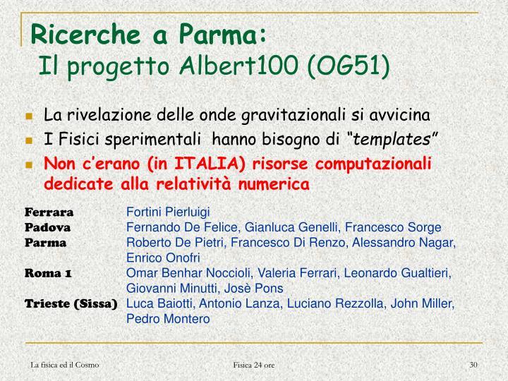 Ricerche a Parma: