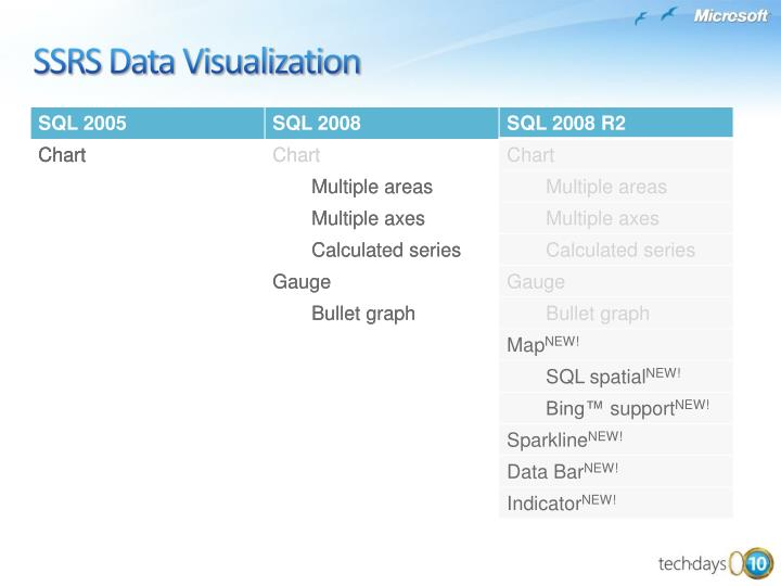 SSRS Data Visualization