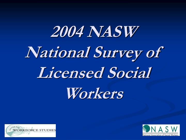 2004 NASW