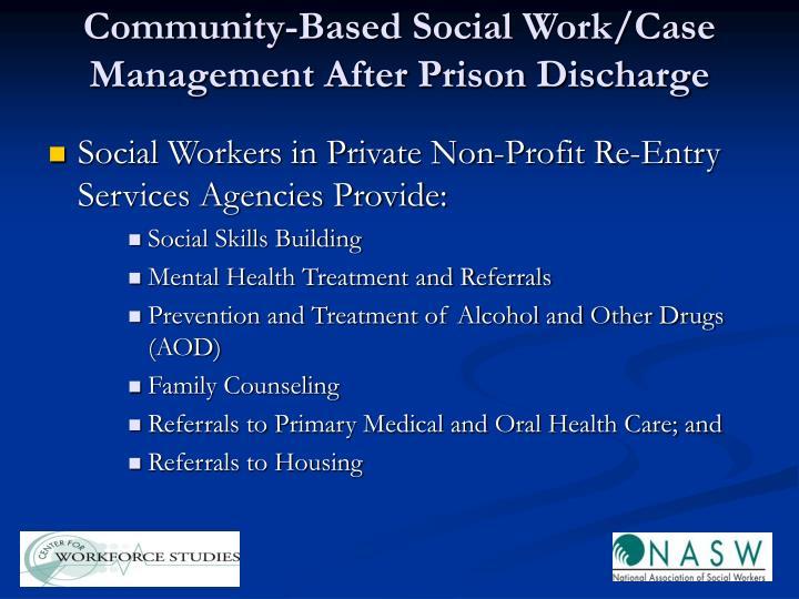 Community-Based Social Work/Case Management After Prison Discharge