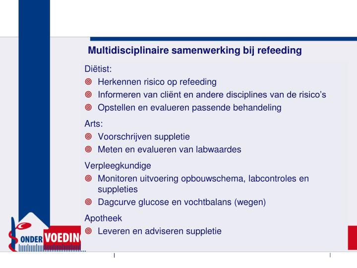Multidisciplinaire samenwerking bij refeeding