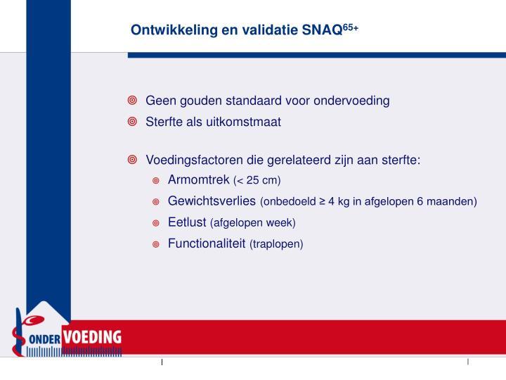 Ontwikkeling en validatie SNAQ