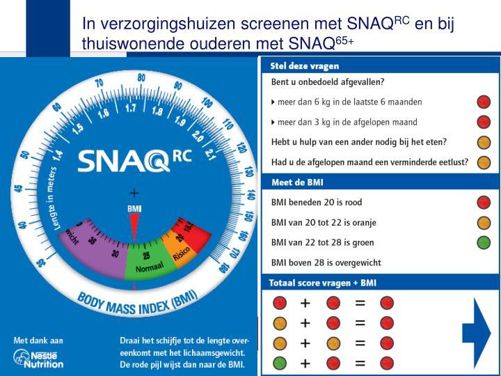 In verzorgingshuizen screenen met SNAQ