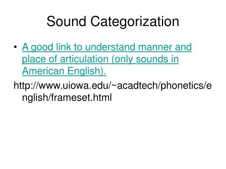 Sound Categorization