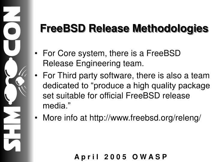 FreeBSD Release Methodologies