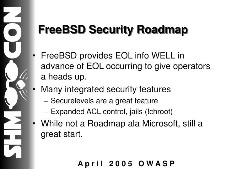 FreeBSD Security Roadmap