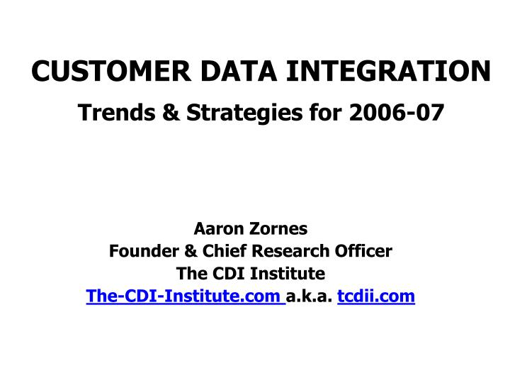 Aaron zornes founder chief research officer the cdi institute the cdi institute com a k a tcdii com