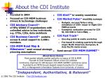 about the cdi institute