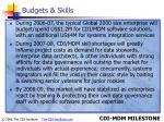 budgets skills