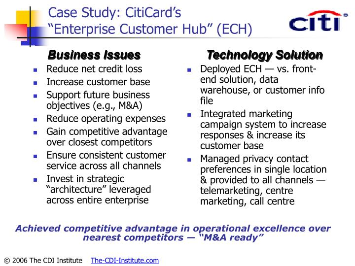 Case Study: CitiCard's